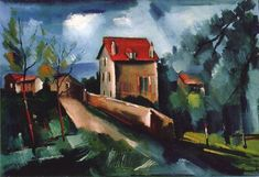 Landscape of Valmondois, by Maurice de Vlaminck - The Color and the Glory.