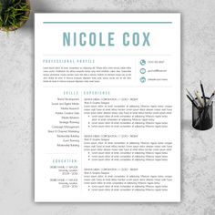 Resume TemplateProfessional Creative And Modern Resume Design