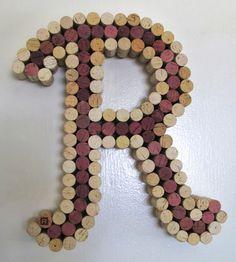 Wine Cork Letter Cork Art