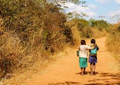 """""""Lean on Me"""" Student Photo in Mtendere Village, Malawi"""