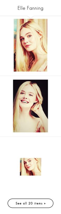 """""""Elle Fanning"""" by hogwargents ❤ liked on Polyvore featuring elle fanning, elle and alice"""