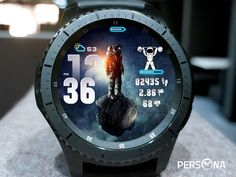 Customizable, informational and functional watch faces for Samsung Gear Gear Sport, Galaxy Watch, Galaxy Watch Active. Samsung Gear S, Gear S3 Frontier, Open App, Watch Faces, Astronaut, Cool Watches, Persona, Space, Clocks