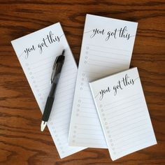 Can't decide which of my to do list notepad options you like best? Why not try them all? Order this set and you'll save $4 off the price of buying the pads individually. This set contains three 50-she
