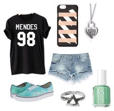 """""""Shawn Mendes Concert"""" by kittykitkat132 ❤ liked on Polyvore featuring Zara, Vans, Marc by Marc Jacobs and Essie"""