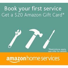 Amazon Home Services : Free $20 Gift Card Offer  http://www.mybargainbuddy.com/amazon-home-services-free-20-gift-card-offer