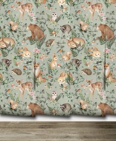NEW Woodland Storybook Sage Mural Peel 'n Stick or Nursery Wallpaper, Of Wallpaper, Stick O, Prepasted Wallpaper, Design Repeats, Pattern Names, Paint Finishes, Print And Cut, Vinyl