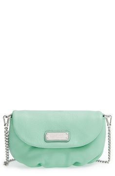 Spring Fashion | Mint Marc Jacobs crossbody flap bag.