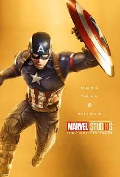 Marvel Studios More Than A Hero Poster Series Captain America Poster Marvel, Marvel Comics, Films Marvel, Marvel Movie Posters, Bd Comics, Marvel Heroes, Captain Marvel, All Marvel Characters, The Avengers