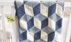 Patrones Crochet, Manualidades y Reciclado: MANTA DIAMOND PASO A PASO CON VÍDEO TUTORIAL