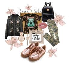 """""""Rose Gold Princess"""" by dopelux on Polyvore featuring Lime Crime and Michael Kors"""