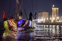 Le Polonais Zbigniew Gutkowski a amarré son monocoque ENERGA au ponton des Sables d'Olonne dimanche soir à 20h.