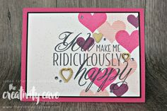 """Welcome to the Stamp Ink Paper Challenge! This week our theme is All You Need Is Love! Video Gather Your Supplies: 1/2 Sheet Melon Mambo 3 3/4 x 5 Whisper White 3 5/8x 5 1/8"""" Basic Black Hearts and Stars..."""