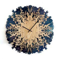 Dramatic And Eye-Catching Botanical-Inspired Clock | DigsDigs