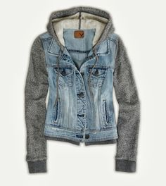 Denim cute vest hoodie fashion style | Women Fashion Galaxy