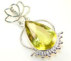 $52.85 Exotic Citrine Sterling Silver Pendant at www.SilverRushStyle.com #pendant #handmade #jewelry #silver #citrine
