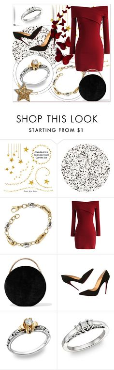 """""""ApplesofGold.com - Jewelry for Beauty and Stlye"""" by emina-095 ❤ liked on Polyvore featuring Tisch New York, Chicwish, Eddie Borgo and Christian Louboutin"""