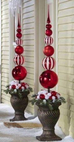 leuke boompjes voor buiten met xxxl kerstballen