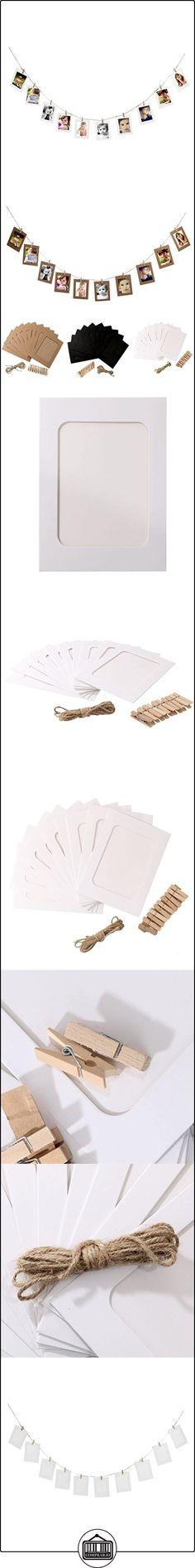 Pixnor 10pcs papel foto marcos DIY 6 pulgadas línea colgante Galería madera Clip cáñamo cuerda boda decoración blanco  ✿ Regalos para recién nacidos - Bebes ✿ ▬► Ver oferta: http://comprar.io/goto/B01LXO140N
