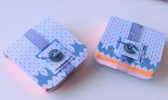 Mini Notebooks,Set of Two,'Wooly' Print,Handmade Notebooks by Steph Short Supplies