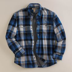 Domple Mens Button Up Classic Fleece Linen Thicken Long Sleeve Shirts