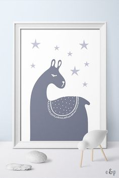 PRINTABLE nursery wall art with a magical llama by Otto and Pixels. Click to buy!  #nursery #nurserydecor #ottoandpixels #scandi #scandinavian #scandikids #babyroom #babyroominspo Baby Room Decor, Nursery Decor, Nursery Ideas, Nursery Artwork, Nursery Prints, Llama Print, Scandinavian Nursery, Animal Nursery, Baby Art