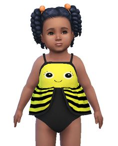 So cute! Bumblebee swimsuit by Simphany-Sims!