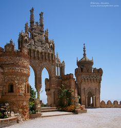 The Earth In Images — Colomares Castle, Benalmadena, Spain. Places Around The World, Oh The Places You'll Go, Places To Travel, Places To Visit, Around The Worlds, Beautiful Castles, Beautiful Buildings, Cadiz, Benalmadena Spain