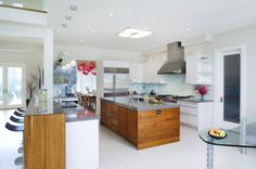 Kitchen Back Splash: Back Painted Glass -Furnished & Installed by Rex Glass & Mirror CO., INC.