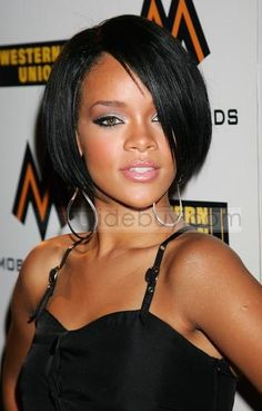 Custom Rihanna Hairstyle Straight about 11Inches Lace Wig