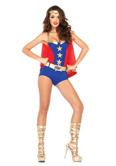 Leg Avenue 85224 Comic Book Girl Costume Dress Up #Retro #WonderWoman