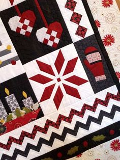 close up, Nordic Christmas Quilt Pattern by Gudrun Erla | GE Designs