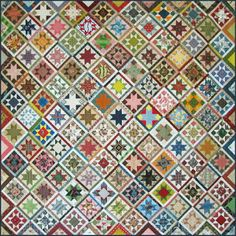 "Civil War Quilts: Time Warp Stars: Becky's Set  - Stars in a Time Warp by Becky Brown 84"" x 84"""