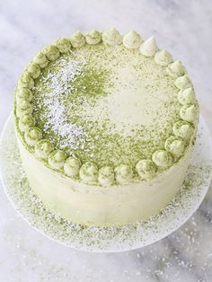 Coconut Matcha Cake Recipe