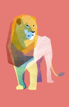 This is the Out like a Lion Music Festival Image. Another case of the most simplest option being the best. Eventually in my career I'll just submit an illustration of a single block of color. and I'll realize that 30 years of. Art And Illustration, Illustrations Posters, Festival Image, Like A Lion, Grafik Design, Oeuvre D'art, Lions, Illustrators, Graphic Art