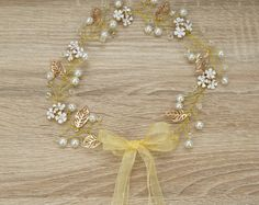 Browse unique items from Designsbygrg on Etsy, a global marketplace of handmade, vintage and creative goods. Flower Crowns, More Cute, Floral Flowers, Pearl Necklace, Things To Come, Etsy Shop, Pearls, Trending Outfits, Unique Jewelry