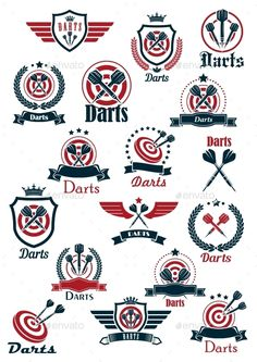 Sport Darts Game Symbols And Icons