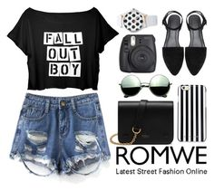 """""""ROMWE CONTEST*3#"""" by fashion-choice ❤ liked on Polyvore featuring Mulberry, Revo and MICHAEL Michael Kors"""
