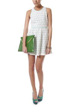 CROCHET LACE FLIPPY DRESS