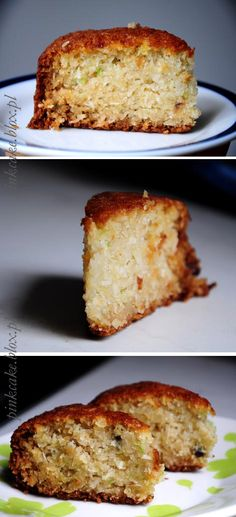 Ciasto cukiniowo-kokosowe (bez jajek) - REWELACJA Cookie Recipes, Vegan Recipes, Healthy Sweets, Banana Bread, Food And Drink, Favorite Recipes, Meals, Baking, Cake