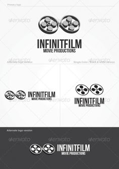Infinitfilm Logo Template — Photoshop PSD #cinema #video production • Available here → https://graphicriver.net/item/infinitfilm-logo-template/4255886?ref=pxcr