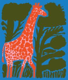 Giraffe between trees Art Print by iveta vaicule - X-Small Fabric Animals, Learn Art, Pebble Painting, Stuffed Animal Patterns, Tree Art, Contemporary Artists, Giraffe, Illustration Art, Art Prints