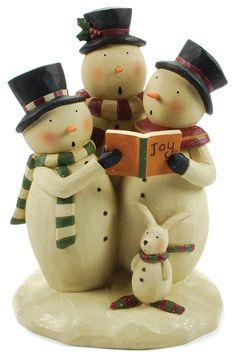 Snowmen Carolers w/bunny!