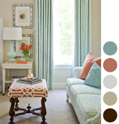 Coral & Blue Living Room!-Think target! and instead of shells in the picture frames, we'll have Europe!