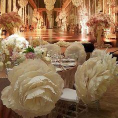Paper Peonies, Paper Flowers, Tutu Table, Wedding Decorations, Table Decorations, Wedding Ideas, Giant Flowers, Amai, Glamorous Wedding