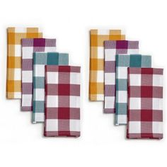 Pioneer Woman Charming Check Napkins, Pack of 8 - Walmart.com