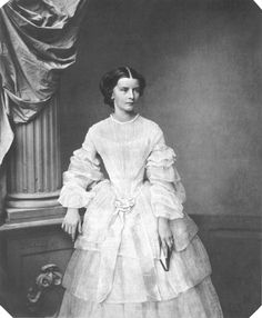"""Not a child, but almost: Empress Elisabeth """"Sisi"""" of Austria (1837-1898) in 1855."""