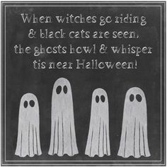 c67fd6236db7 Halloween Ghosts Chalk Wall Art ($189) ❤ liked on Polyvore featuring home,  home