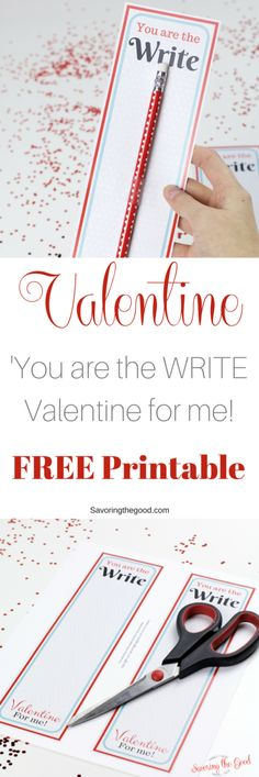 free classroom valentine printable for a Valentine themed pencil that is super easy for your kids to give. Great for schools that are candy free, nut free or allergy friendly. You can get these complete in minutes.
