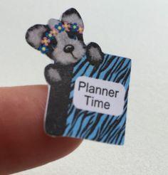 Planner stickers  bear,   planner time, fits Erin Condren & Happy planners  #Handmade
