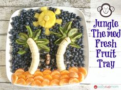 Jungle Themed Fresh Fruit Tray 2